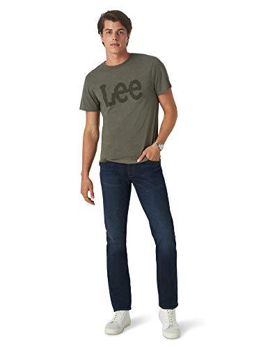 Lee Men's Slim Straight Jean, Evening, 32W x 34L