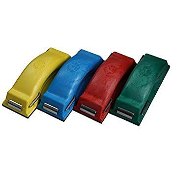 Time Shaver Tools Preppin' Weapon Ergonomic Sanding Block, for Wet and Dry Sanding! Easy to Load, Plain Paper Sander! 4 Color Red Blue Green Red