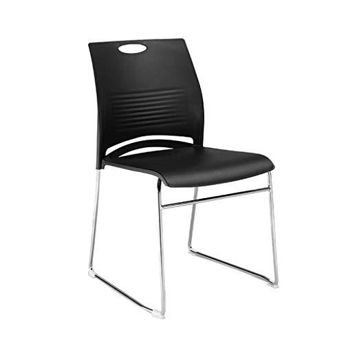 Bürostuhl Rezeption Stuhl Konferenzstuhl Lehrstuhl Einfacher Haushalt Lernstuhl Computer Stuhl GMING (Color : Black)