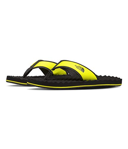 The North Face Men's Base Camp Flip-Flop ll, TNF Black/Sulphur Spring Green, 14