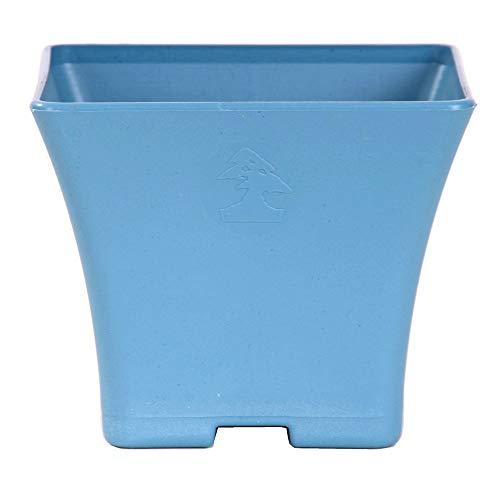 Bonsai - cascadeschaal hoekig 12 x 12 x 10 cm, grijsblauw, kunststof 50022