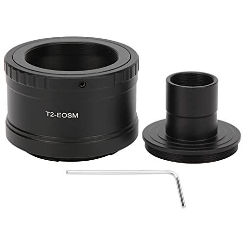 Anillo Adaptador de Lente de microscopio, 23,2 mm Tubo de extensión de Montaje en T para microscopio Anillo Adaptador de Montaje T2 para cámara de Montaje M de Canon