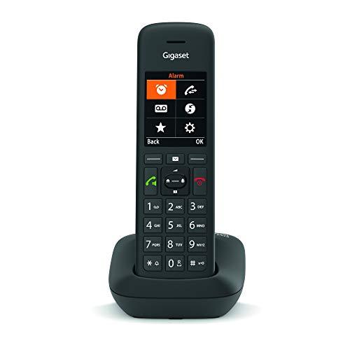 Gigaset C575 DECT- Schnurlostelefon für Komfortables Telefonieren Made in Germany - mit großer Nummernanzeige, Farbdisplay und Leichter Bedienbarkeit, schwarz