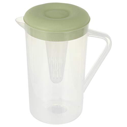 Cabilock Jarra de Agua Fría de 2. 4L con Tapa Jarras de Jugo de Bebida Hervidor de Plástico Resistente Al Calor Tetera Leche Jarra para Jugo de Limón Té Verde Helado Casero