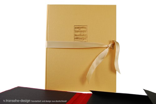 v. transehe design Spannmappe Noten beige