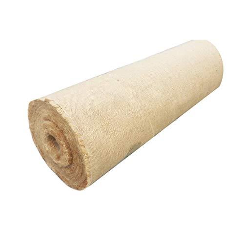 Yuzet - Rotolo di tessuto di iuta, 1,37 m x 1 m, 200 g/m²