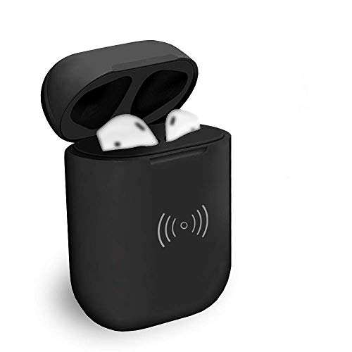 Blandstrs Wireless Charging Case with Sync Button Compatible with Airpods 1 gen & Airpod 2, Air pods Charger Case Replacement, NO EARPODS - Black