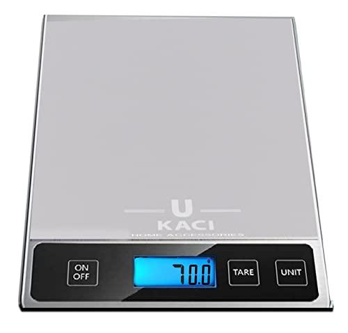 Ukaci Balance Cuisine Electronique 15kg //33lb, Balance numérique avec LCD, Balance de cuisine alimentaire, Balance de cuisine digitale compacte, Petit Electroménager balance de cuisine,