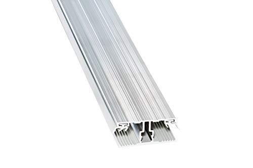 Stegplatte Verbindungsprofil Profile Mitte für 16mm Stegplatten Alu/Gummi 3 Meter