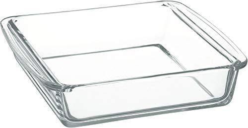 iwaki(イワキ) 耐熱ガラス ケーキ型 ケーキ焼き皿 グラタン皿 角型 25.5×21×6cm KBC222
