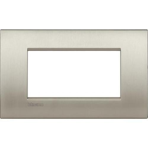 Bticino LNC4804TIS Placca Livinglight Air 4 Moduli, Titanio...