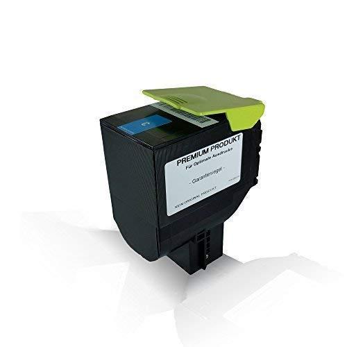 Print-Klex Tonerkartusche Cyan kompatibel für Lexmark 3.000 Seiten CX410de CX410dte CX410e CX510de CX510dhe CX510dthe CX 410 de CX 410 dte CX 410 e CX 510 de CX 510 dhe CX 510 dthe 802HC Cyan C