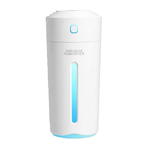 VANOLU DC5V 2W USB Star Cup Humidificador, lámpara de color, uso doméstico para purificación de aire seco, suplemento de agua, humidificador de batería