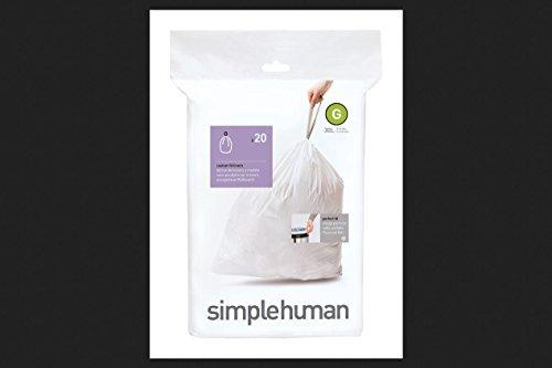Sacs poubelles 30L-G, Simplehuman
