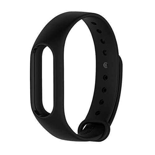 Para mi band 2 Correa Accesorios de pulsera Reemplazo de silicona Muñequera Smart Wrist para Xiaomi Mi Band 2 Correa-Negro