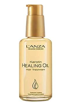 L ANZA Keratin Hair Treatment Healing Oil Abyssinian Flower Oil 3.4 Fl Oz