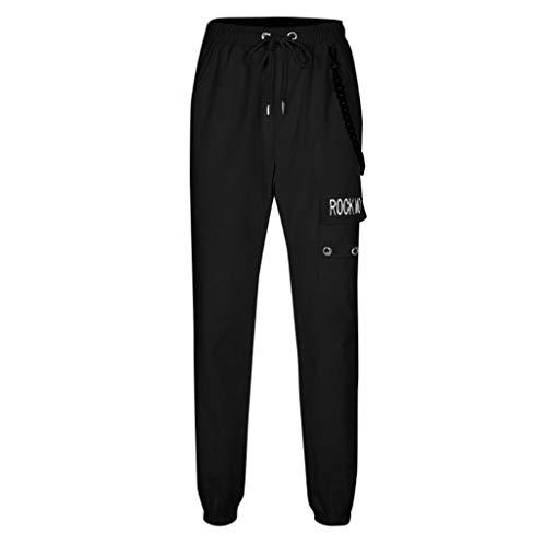 Zarupeng Hip Hop broek voor dames, streetwear, joggingbroek, sport, cargingbroek, casual lange harem pants, outdoor fitnesslegging met trekkoord