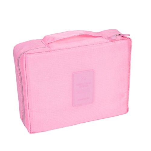 Cosanter 1 X Multifonctionnel Maquillage Sac en Polyester Portable Trousse de Voyage Idéal Grande Capacité Sac de Toilette