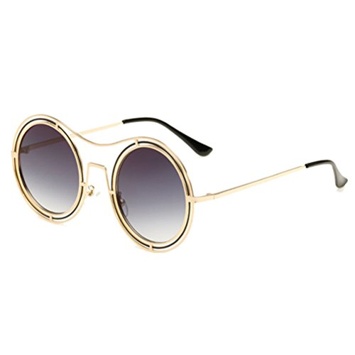 Linyuan Women's Vintage Retro Round Sunglasses Cyber Goggles Steampunk FY1942