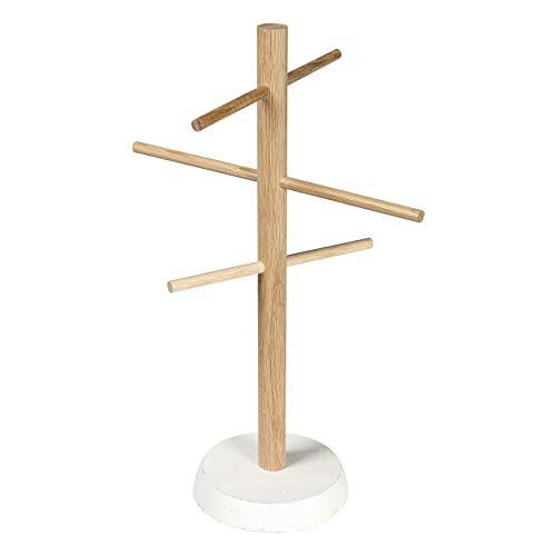 CREATE! by OBI DIY Schmuckbaum | Dekorativer Schmuckständer aus Holz & Beton zum Selberbauen (HINWEIS: Farbe im Set nicht enthalten)