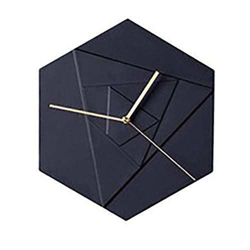 Reloj de pared Punch-cerámica libre de reloj de pared de moda geométrico hexágono Rose dormitorio Silenciar el reloj de tabla relojes de pared con pilas for no tictac Ayudará a planificar mejor su tie