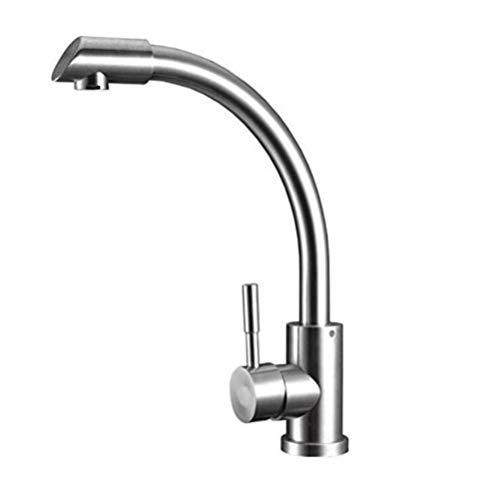 Wasserhahn Wasserhahn Wasserhahn Warmes und kaltes Wasser Messing Chromstahl Küchenarmatur Startseite Warmes und kaltes Universal-Waschbecken mit drehbarem Wasserhahn