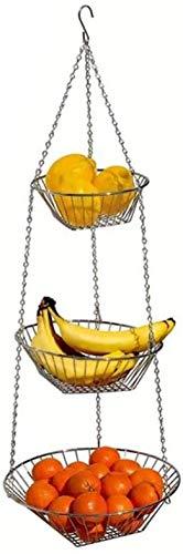 Corbeille a Fruit Porte fruits Corbeille À Fruits Suspendue Rangement For Fruits Légumes Ustensiles De Cuisine Et For Fleurs Zheng