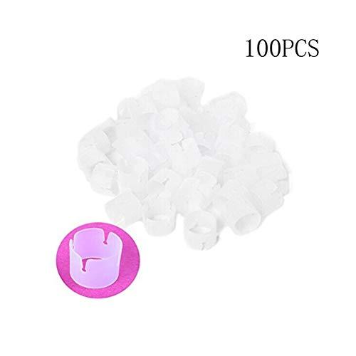 OULII Lot de 100 Attaches pour Ballons, connecteurs, Clips, Anneaux, pour décoration de fête de Mariage