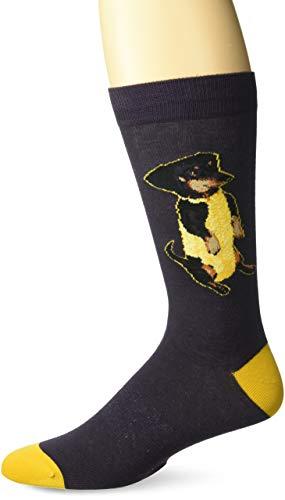 K. Bell Men's Funny Animal Novelty Crew Socks, Corn Dog (Dark Purple),...