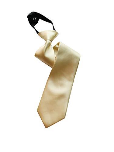 PB Pietro Baldini Krawatte mit Gummizug - Farbe beige, elegantes Satin-Finish