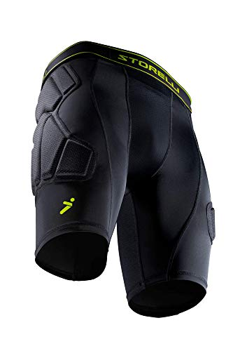 Storelli BodyShield Unisex Goalkeeper Sliders 2.0 | Padded Soccer Sliding Undershorts | Enhanced Lower Body Protection | Black | Small