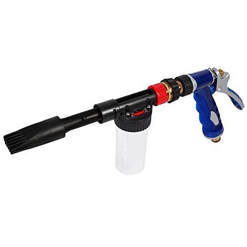 Yosoo Rociador de Pistola de Espuma de Lavado de Coches 2 en 1 nebulizador de cañón de Coche de Espuma de Nieve de Limpieza