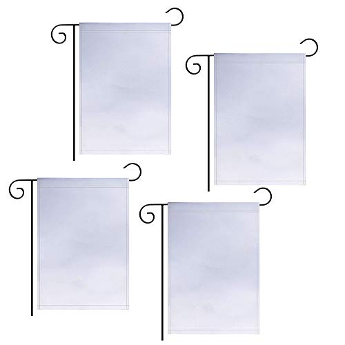 GoShell 4 PCS Blank Garden Flag, Three Layer Double Sided Polyester DIY Flags,Outdoor Garden Parade Banner Decor Flags Flags,12