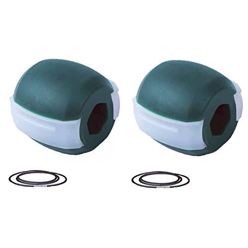 TNNT 2 STÜCKE pro Packung, JAWLINE Übeltrainer Gesichtsmuskeltrainer Doppelkinn Reduzierer Eliminator Gesichts-Jawz-Übungsball, Reduzieren Sie den Stress, der jünger und 60 lbs