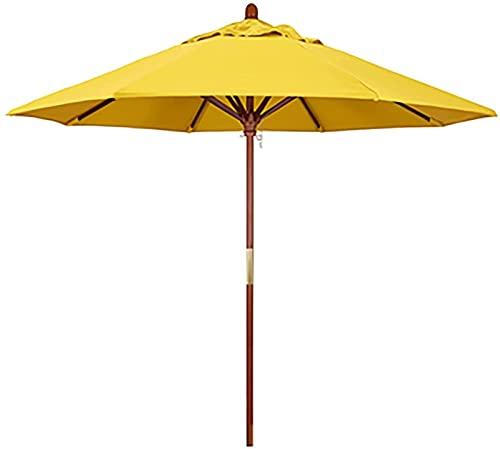 CHLDDHC Sombrilla Playa Courtyard Umbrella,con 8 Varillas Paraguas Resistentes, Picnics Familiares en La Playa Porche Camping Balcón,Yellow-2.5X2.7M