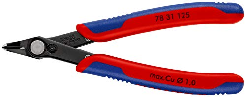 KNIPEX 78 31 125 Electronic Super Knips® brunita rivestiti in materiale bicomponente 125 mm