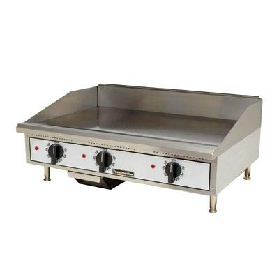 Best Deals! Toastmaster TMGE36 36 Stainless Steel Griddle, Electric, Countertop, Thermostatic Contr...