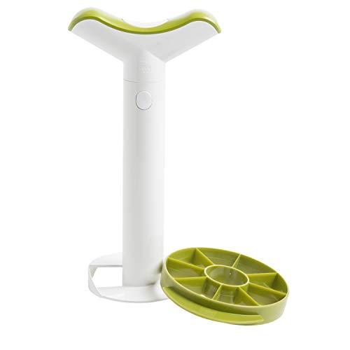 Vacu Vin 4872260 - Cortapiñas mediano, de plástico, en estuche, con troceador...
