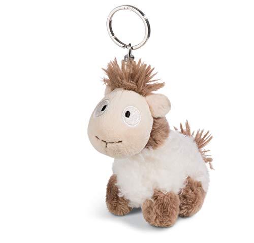 Nici 45401 Keyring Llama-Baby Floffi 10cm, Beige/Pink