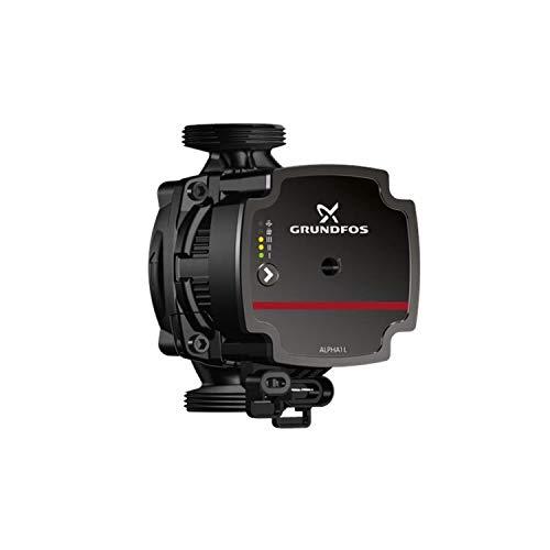 Grundfos Bomba circuladora de alta eficiencia, modelo Alpha1 L 25-60 130, 4-45kW, 0.05-0.42A, PN10, altura máxima 60 dm, 14,9 x 10,8 x 13 centímetros, color negro (referencia: 99160583)