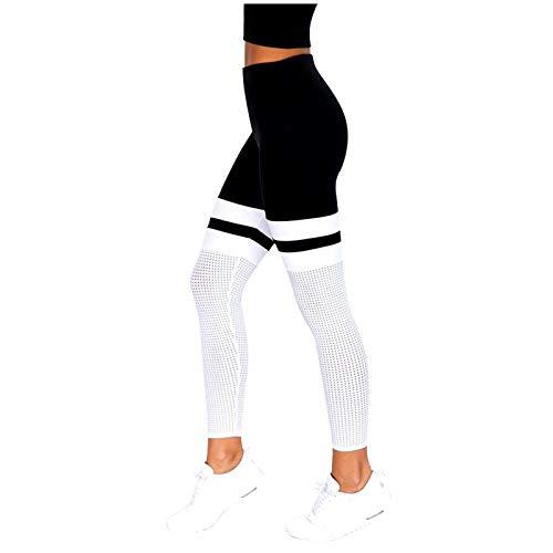 URIBAKY - Mallas de deporte largas para mujer de invierno Negro XL