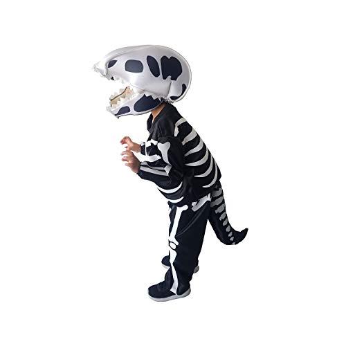 Disfraces TuDi - Disfraz Dinosaurio Niños Esqueleto Fósil Calavera Muerte Halloween (6 Años)