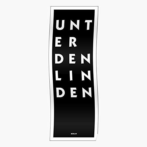 Myxtur Souci Den Linden Spree Unter Brandenburg Germany Gate Sans Potsdam Berlin Zoo Geschenk für Wohnkultur Wandkunst drucken Poster 11.7 x 16.5 inch
