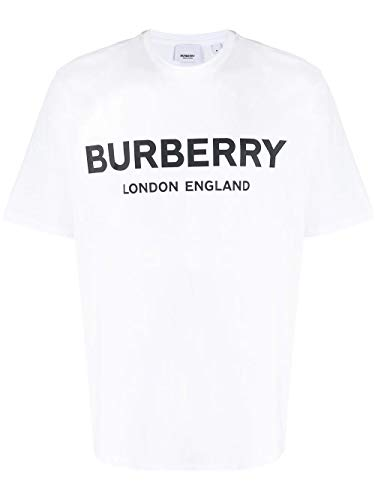 BURBERRY Luxury Fashion Herren 8026017 Weiss Baumwolle T-Shirt   Frühling Sommer 20