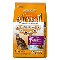 ユニチャーム AllWell 15歳以上の腎臓の健康維持用 フィッシュ味挽き小魚とささみフリーズドライパウダー入り 1.5kg(375g×4袋)×5袋入
