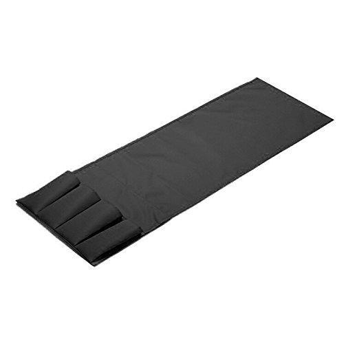 Xuniu Sofa Stuhl Pocket Organizer, 4 Taschen hängende Halter für Fernbedienung Magazin schwarz 94x32cm
