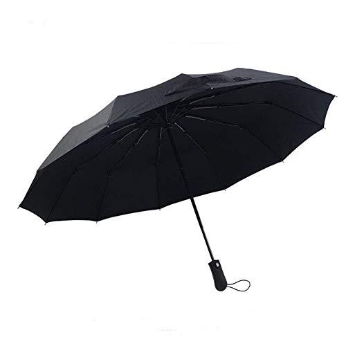 Paraguas xfse Paraguas Compacto De Viaje Paraguas Indestructible A Prueba De Viento Paraguas Rentable Negro