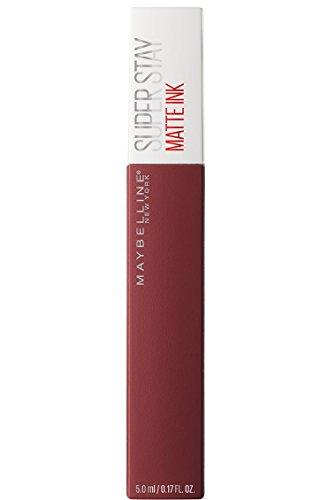 Maybelline New York Tinta Labbra SuperStay Matte Ink, Rossetto Matte Liquido a Lunga Tenuta, Voyager (50), 5 ml