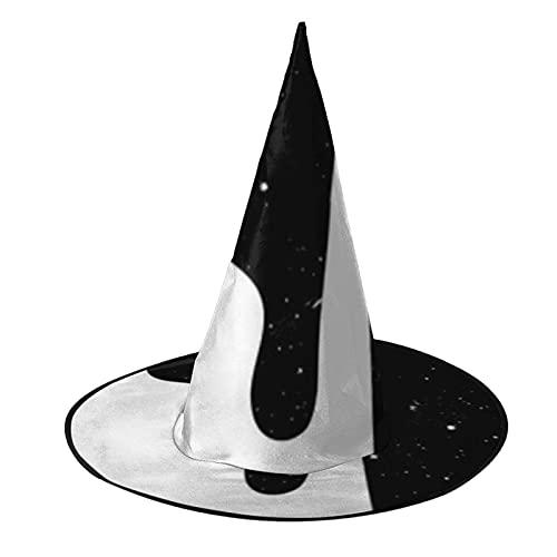 Disfraz unisex de bruja de Halloween para fiesta con patrón de leche, accesorio de cosplay para niños, hombres y mujeres