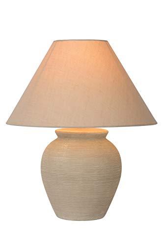 Lucide Ramzi della lampada da tavolo di beige, Ceramica, E27, 60W, Cream, 34x 34x 42cm